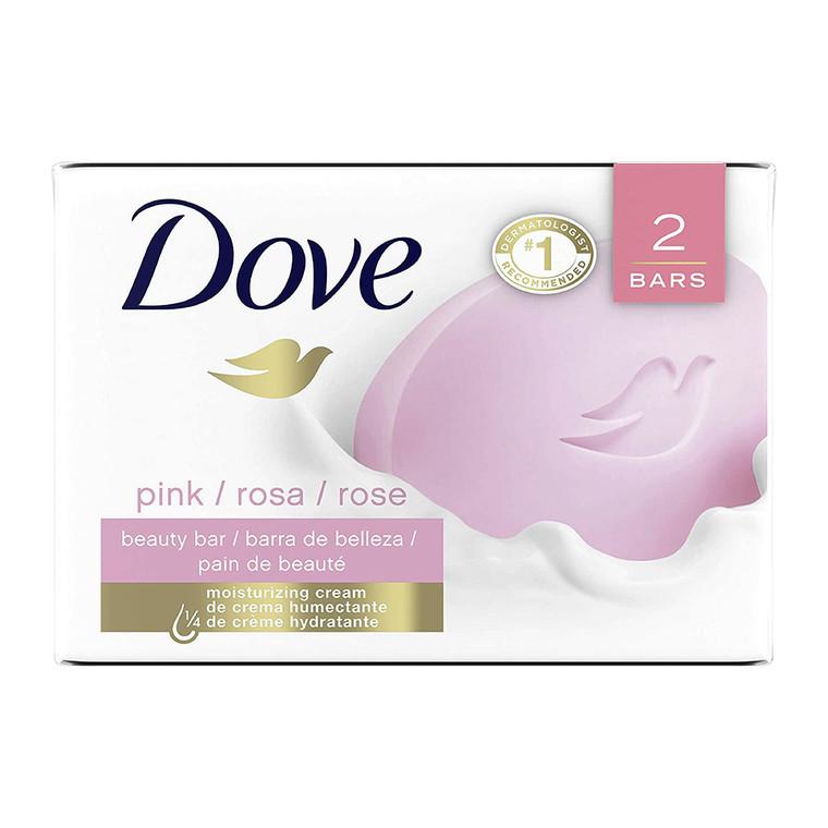 Dove Beauty Bar Soap, Pink 4.75 Oz, 2 Ea