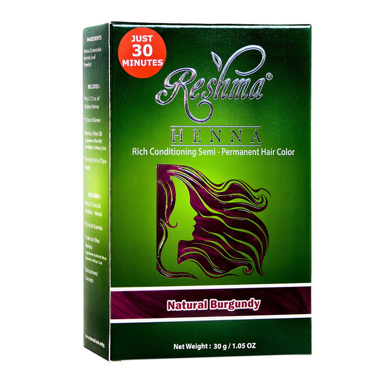 Burgundy Rich Conditioning Semi-Permanent Hair Color by Reshma Henna Natural, 1.5 Oz