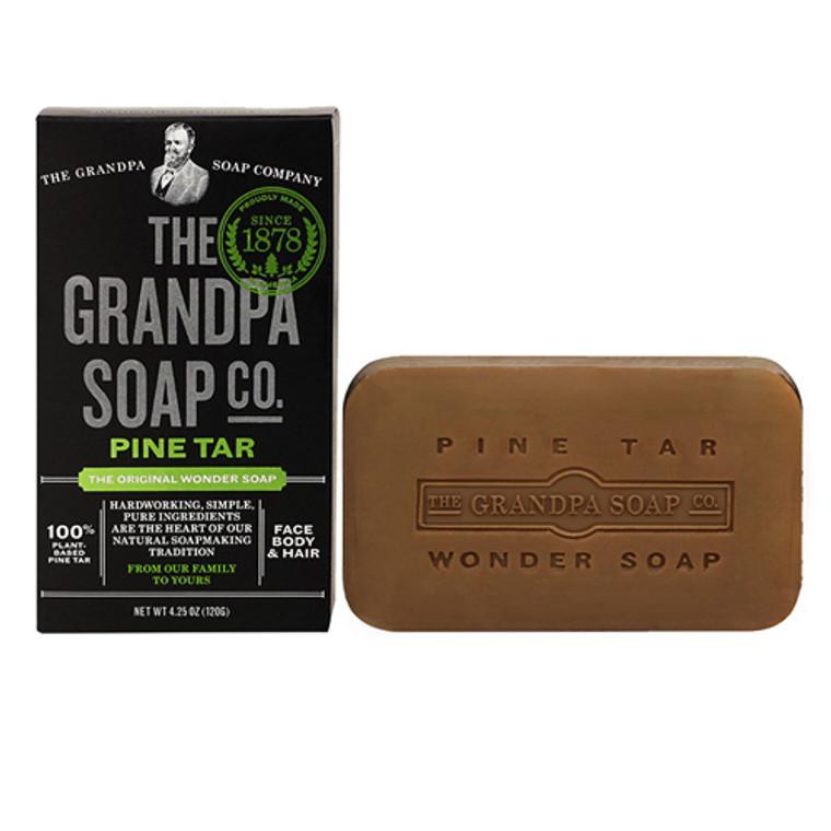 Grandpas Wonder Pine Tar Bath Bar Soap, Lathers White - 4.25 Oz