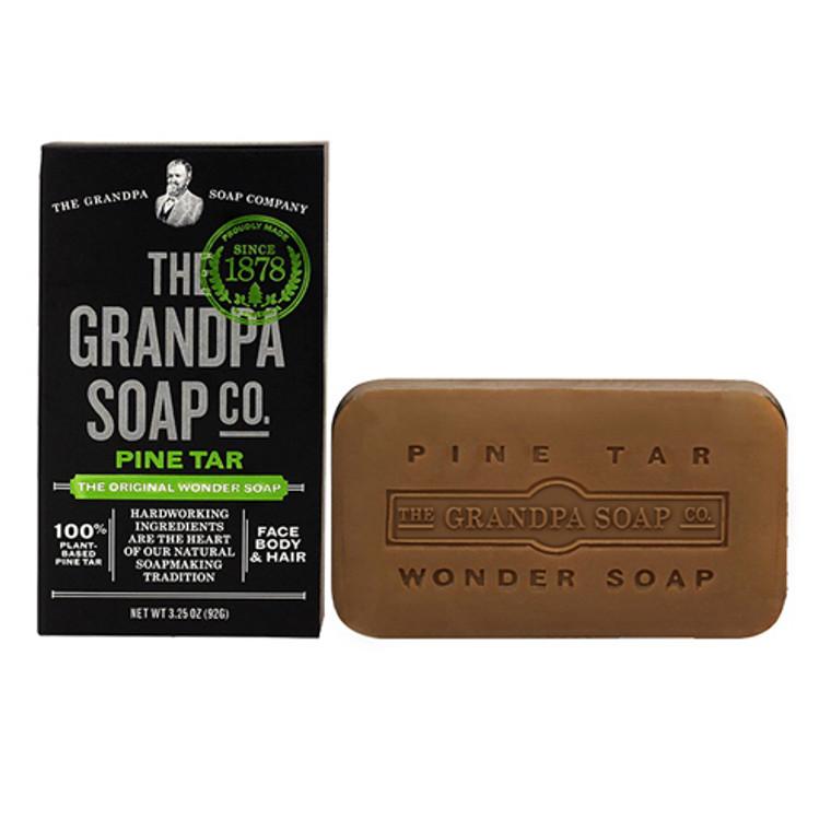 Grandpas Wonder Pine Lathers White Tar Bath Bar Soap - 3.25 Oz
