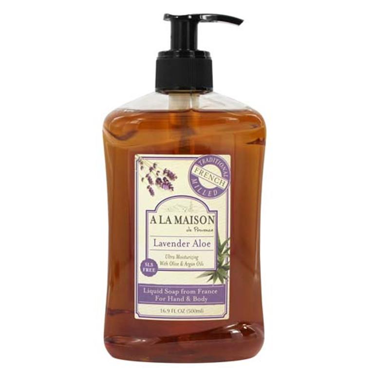 A La Maison Liquid Soap For Hand And Body, Lavender Aloe - 16.9 Oz