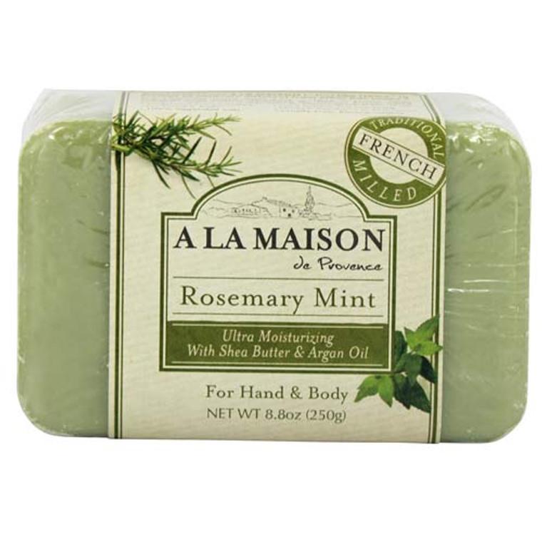 A La Maison De Proven Bar Soap, Rosemary Mint - 8.8 Oz
