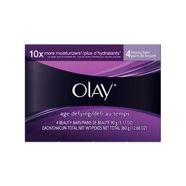 Olay Age Defying Moisturizing Beauty Bar- 4 Ea