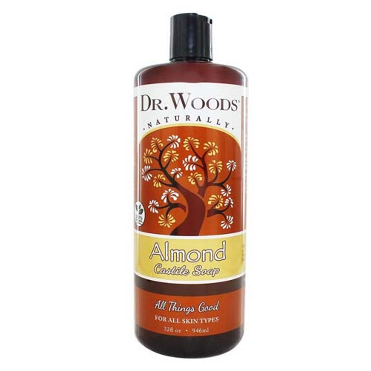 Dr.Woods All Natural Pure Almond Castile Soap - 32 Oz