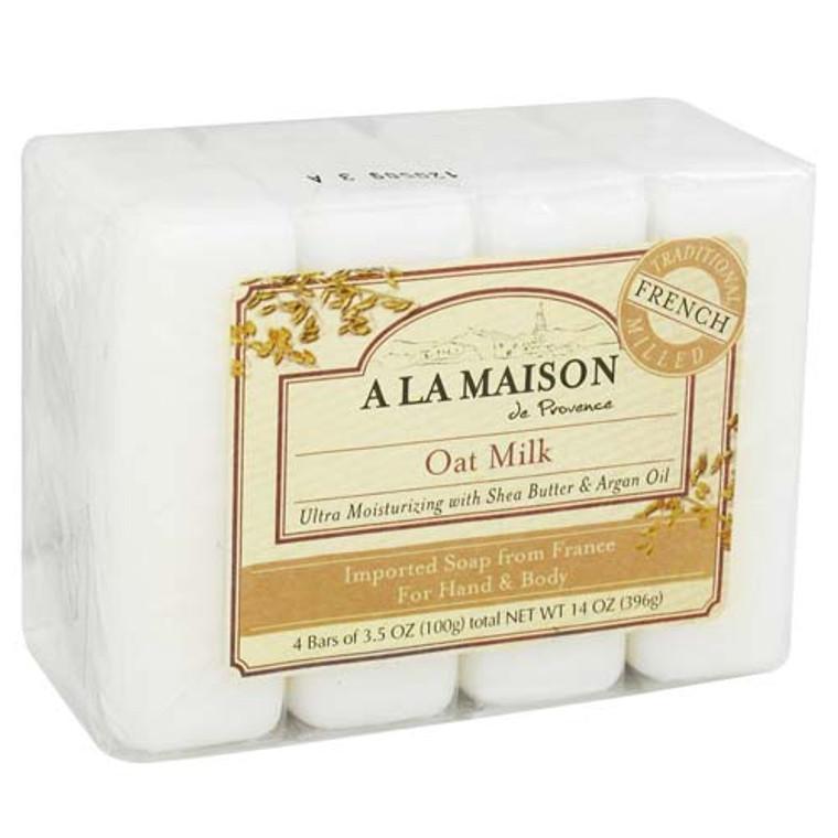A La Maison Bar Soap Value Pack, Oat Milk - 3.5 Oz, 4 Bars