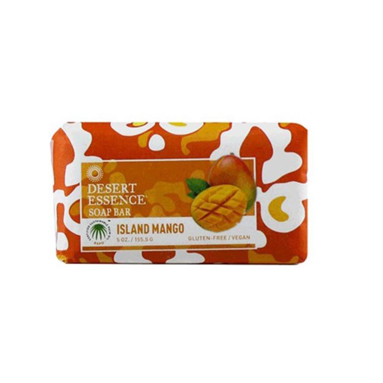 Desert Essence Bar Soap, Island Mango, Gluten Free - 5 Oz