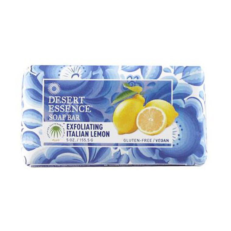Desert Essence Exfoliating Bar Soap, Italian Lemon - 5 Oz