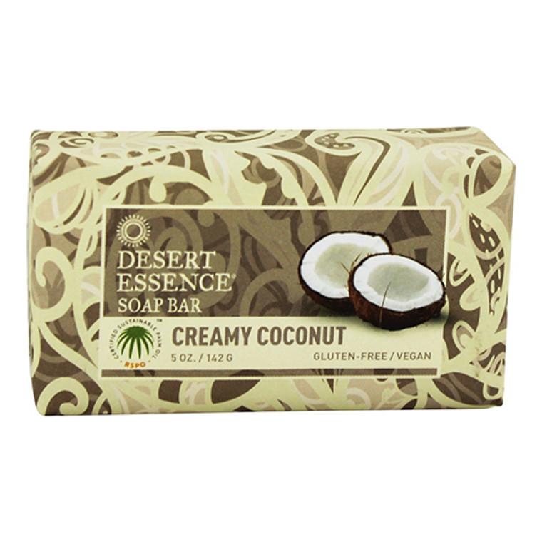 Desert Essence Vegan Bar Soap, Creamy Coconut, 5 oz