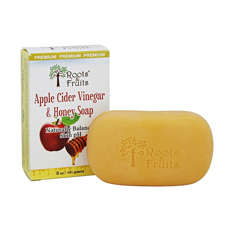 Roots And Fruits Apple Cider Vinegar And Honey Soap, 5 Oz