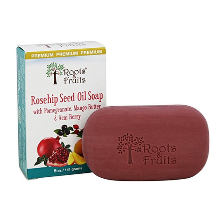Roots And Fruits Rosehip Seed Oil Bar Soap, 5 Oz