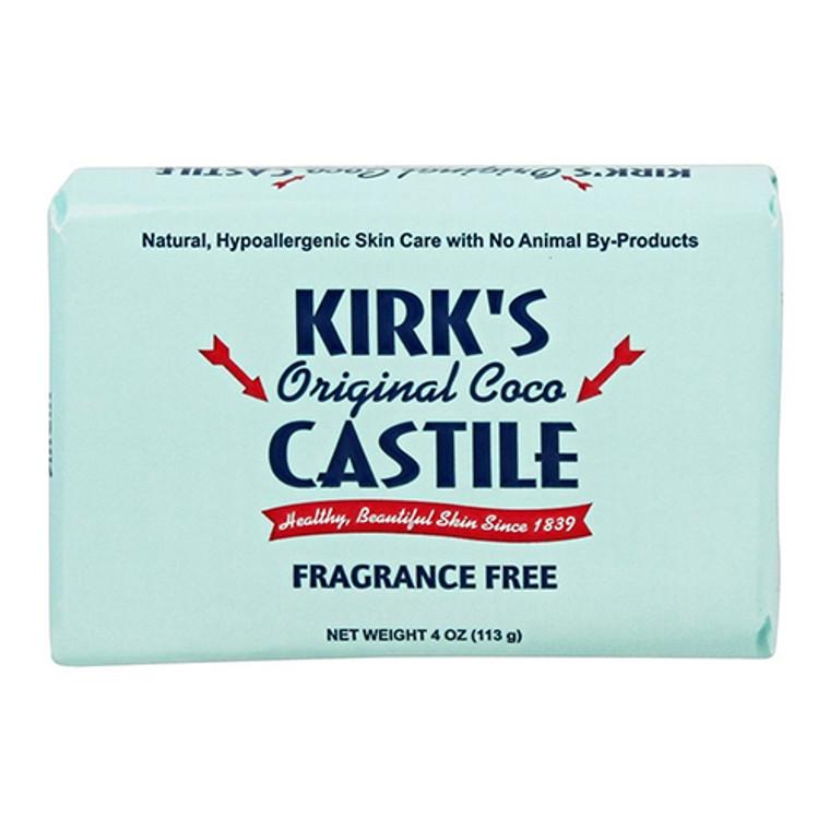 Kirks Natural Original Coco Castile Bar Soap, Fragrance Free, 4 Oz