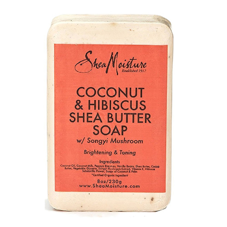 Shea Moisture Coconut And Hibiscus Shea Butter Bar Soap, 8 Oz