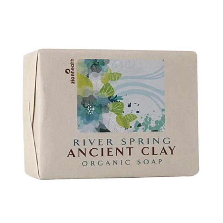 Zion Health Ancient Clay Bar Soap, River Spring, 10.5 Oz