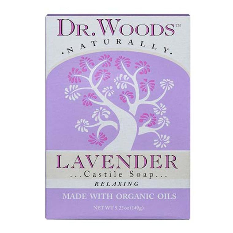 Dr. Woods Naturally Relaxing Castile Bar Soap, Lavender, 5.25 Oz
