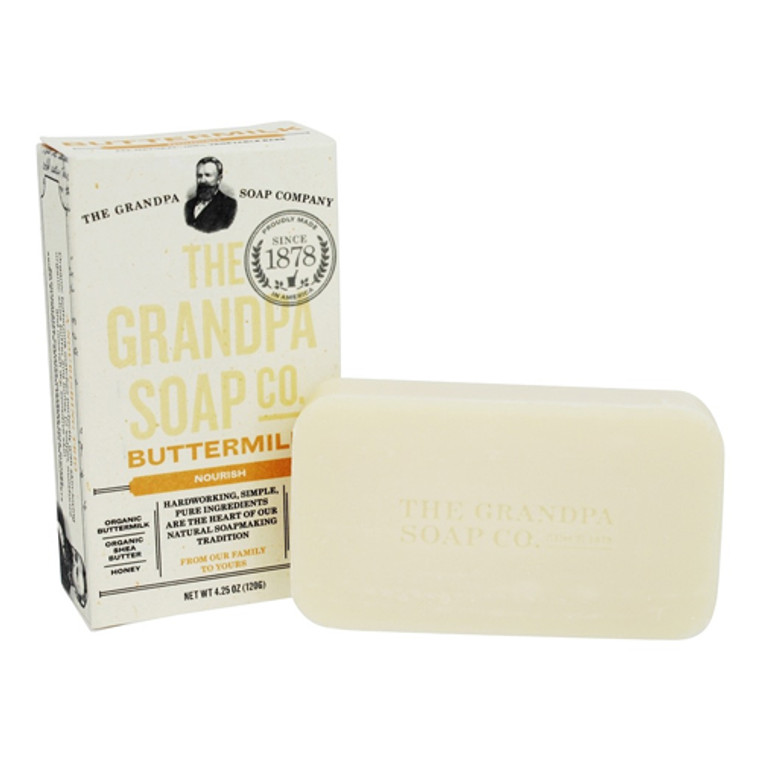 Grandpas Soap Co Face and Body Bar Soap, Buttermilk, 4.25 oz