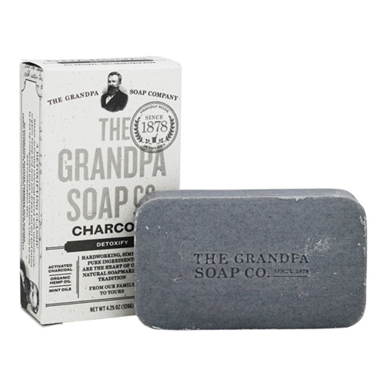 Grandpas Soap Co Face and Body Bar Soap, Charcoal, 4.25 oz