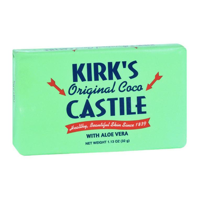Kirks Natural Original Coco Castile Bar Soap, With Aloe Vera, 1.13 Oz, 3 pack