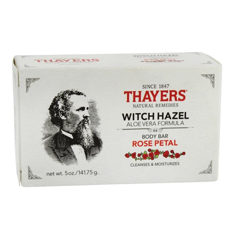 Thayers Body Bar Soap with Witch Hazel and Aloe Vera Rose Petal, 5 Oz