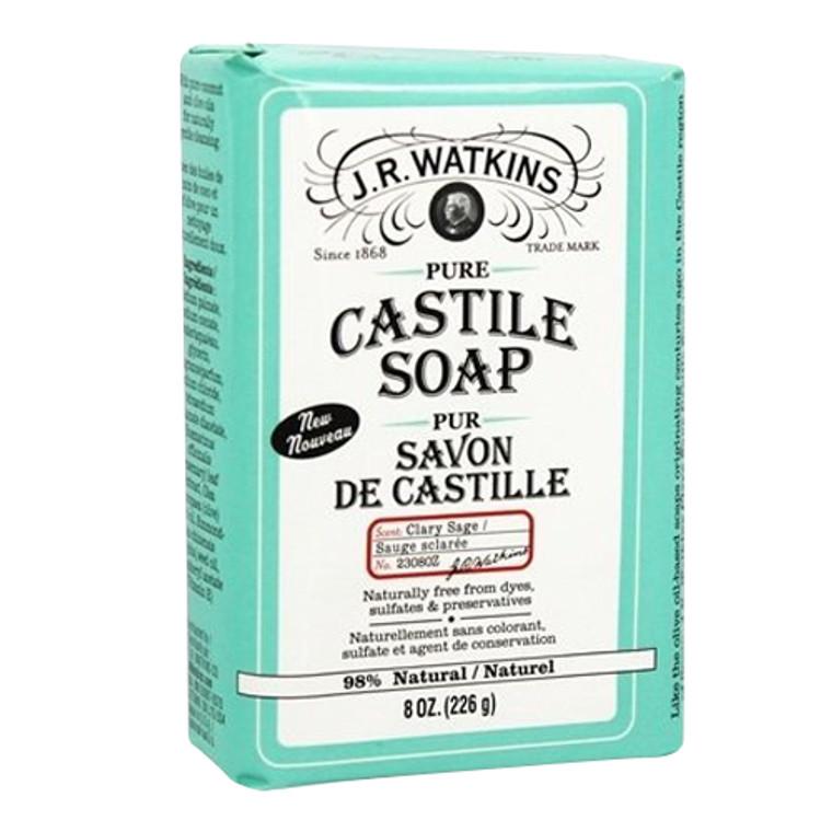 J.R. Watkins Pure Castile Bar Soap Clary Sage, 8 Oz