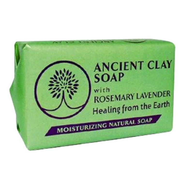 Zion Health Ancient Clay Moisturising Natural Bar Soap, Rosemary Lavender, 6 Oz
