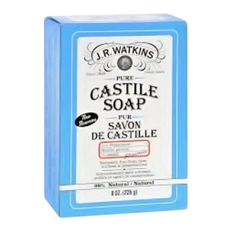 J.R. Watkins Pure Castile Body Bar Soap with peppermint, 8.02 Oz