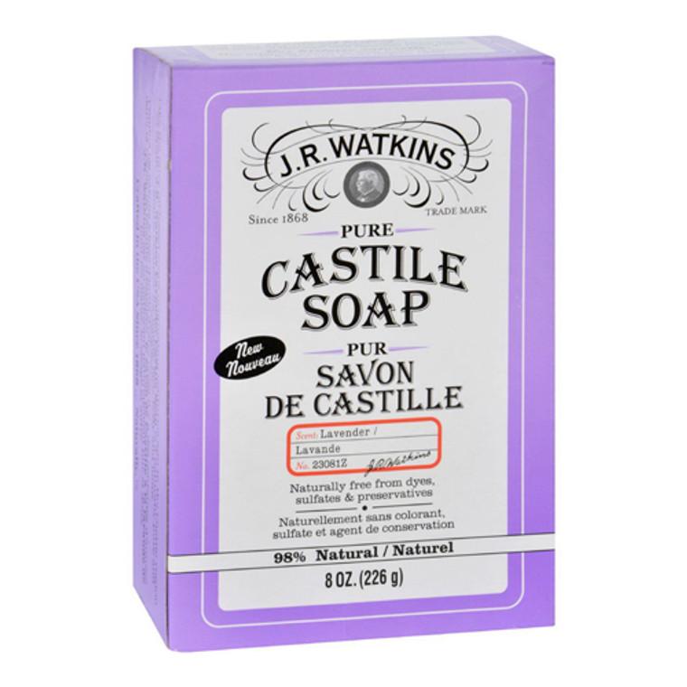 J.R. Watkins Pure Castile Lavender Bar Soap, 8 Oz