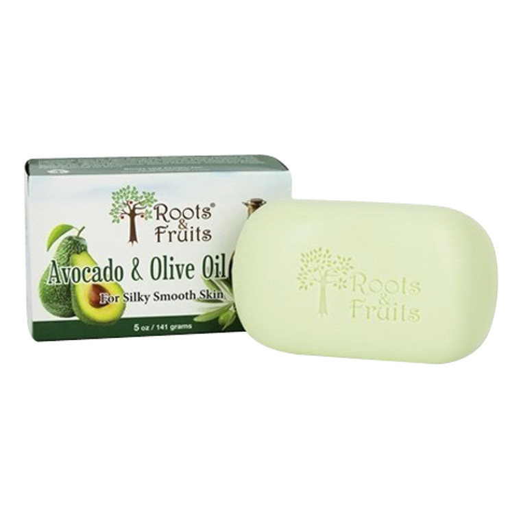 Roots And Fruits Bar Soap Avocado And Olive Oil For Silky Smooth Skin, 5 Oz