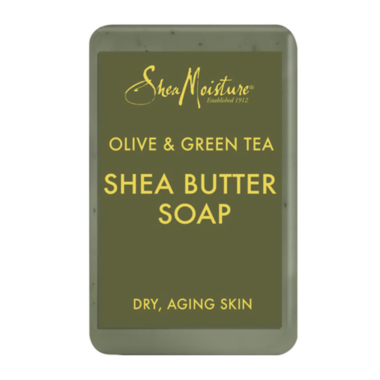 SheaMoisture Olive and Green Tea Shea Butter Soap, 8 oz