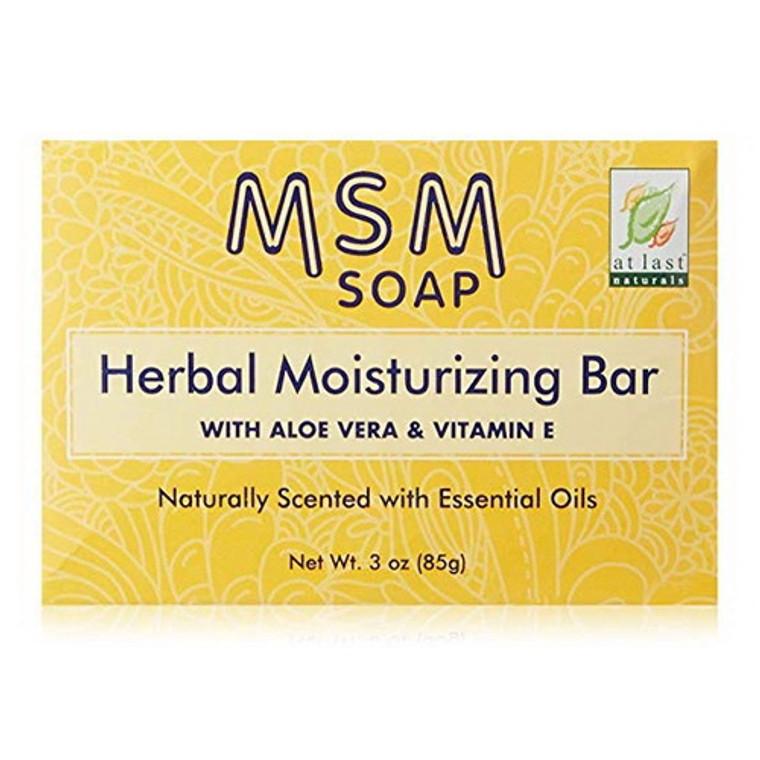 At Last Naturals Msm Herbal Moisturizing Bar With Aloe Vera And Viamin E, 3 Oz