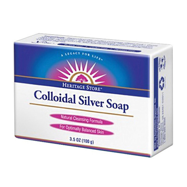 Heritage Natural Cleansing Formula Colloidal Silver Bar Soap, 3.5 Oz