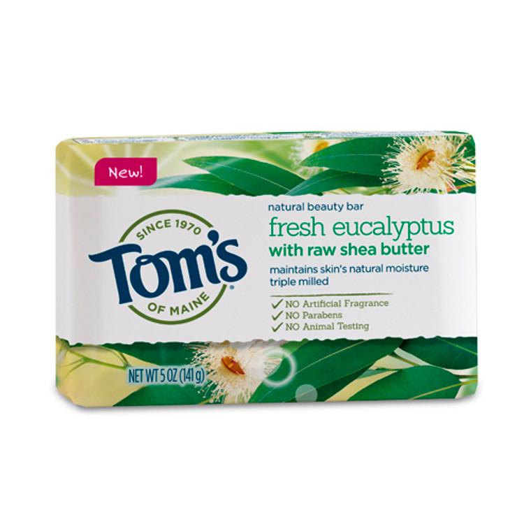 Toms Of Maine Fresh Eucalyptus with Raw Shea Butter Moisturizing Bar Soap, 5 Oz