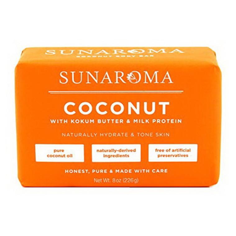 Sunaroma Organic Coconut Oil Soap, 8 Oz