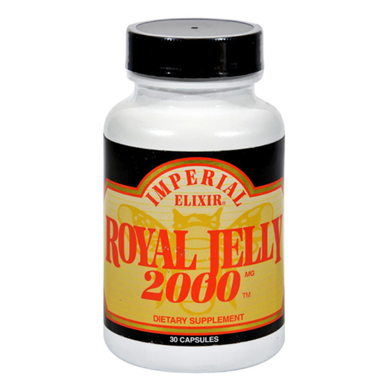 Imperial Elixir Royal Jelly 2000 Mg Capsules 30 Ea - 2 Pack