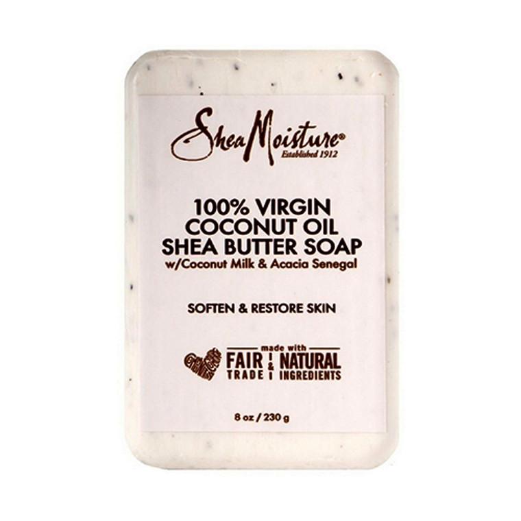 Shea Moisture 100% Virgin Coconut Oil Shea Butter Body Soap, 8 Oz