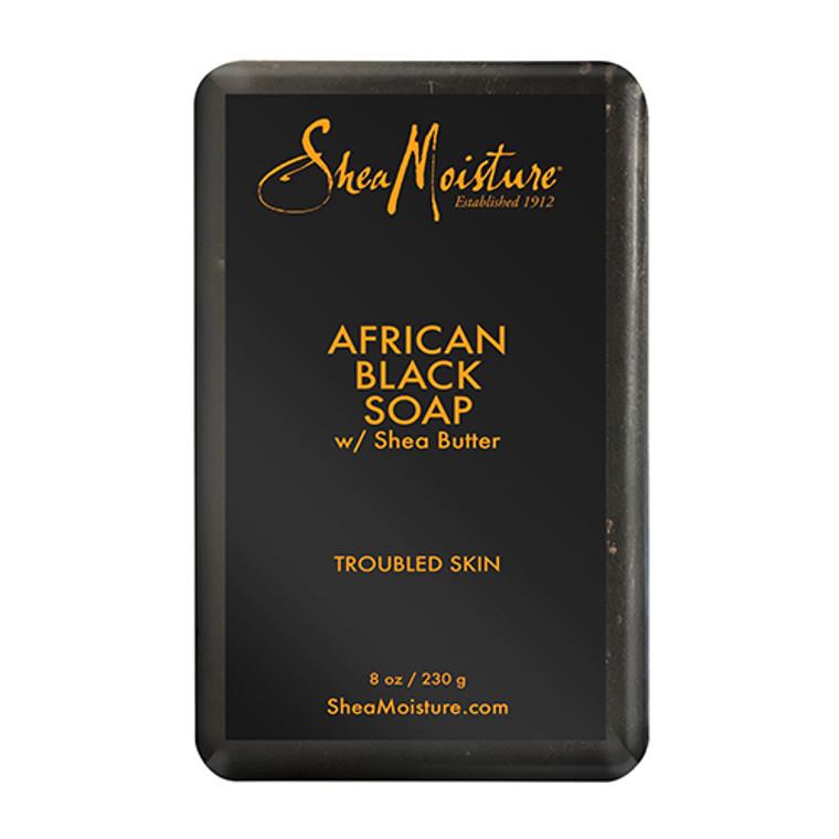 Shea Moisture African Black Soap With Shea Butter, 8 Oz