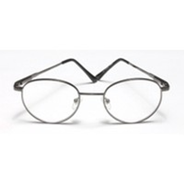 Reading Glasses 3.00 Power, Gold, Round And Metal, Frame Size: R032 - 1 Ea