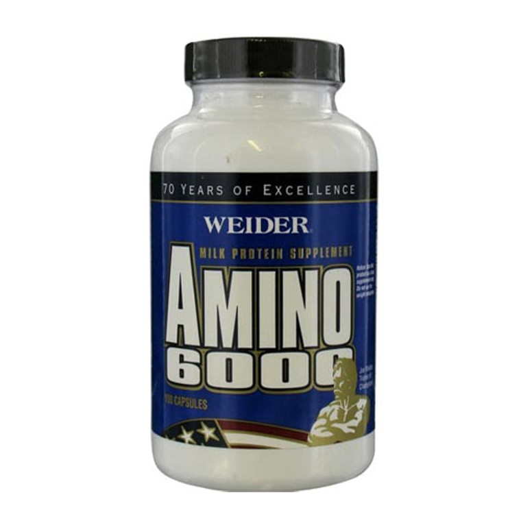 Weider Health And Fitness Amino 6000 Capsules, Milk Protein Supplement - 100 Ea