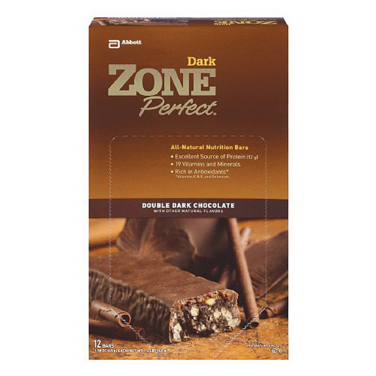 Zone Perfect All Natural Nutrition Bars, Double Dark Chocolate - 1.58 Oz, 12 Ea