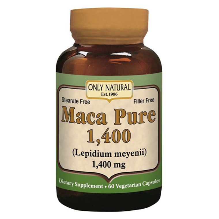 Only Natural Maca Pure 1400 Supplement Capsules, 60 Ea