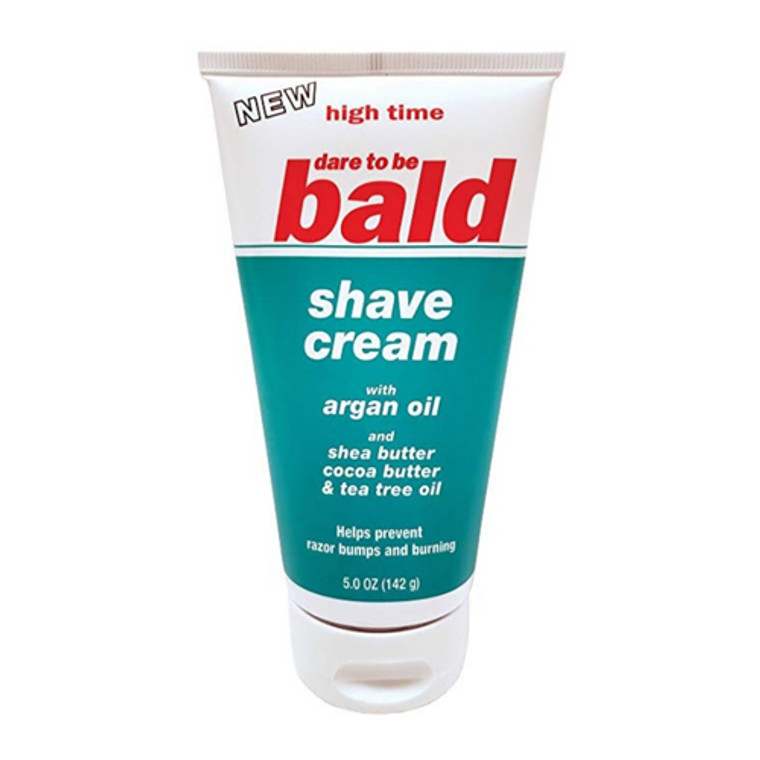 High Time Dare to be Bald Shave Cream with Argan Oil, 5 Oz