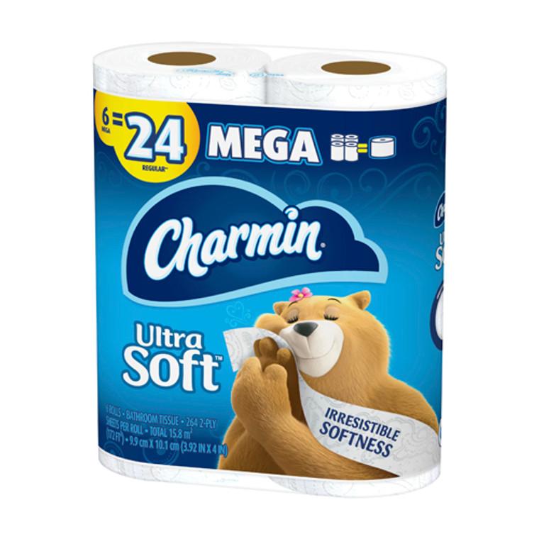 Charmin Ultra Soft Toilet Paper 6 Mega Rolls, 3 Pack