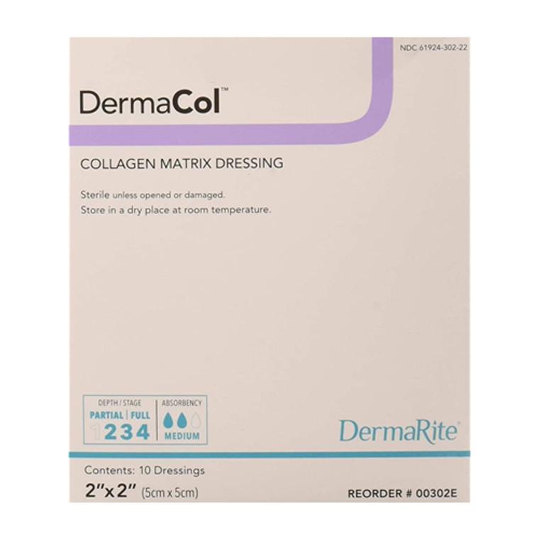 """Dermarite Industries Dermacol Collagen Matrix Wound Dressing, 2""""x2"""", 10 Ea"""