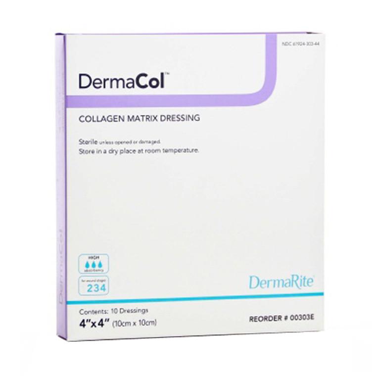 """DermaRite Dermacol Collagen Matrix Dressing  4""""X4"""", 10 Ea"""