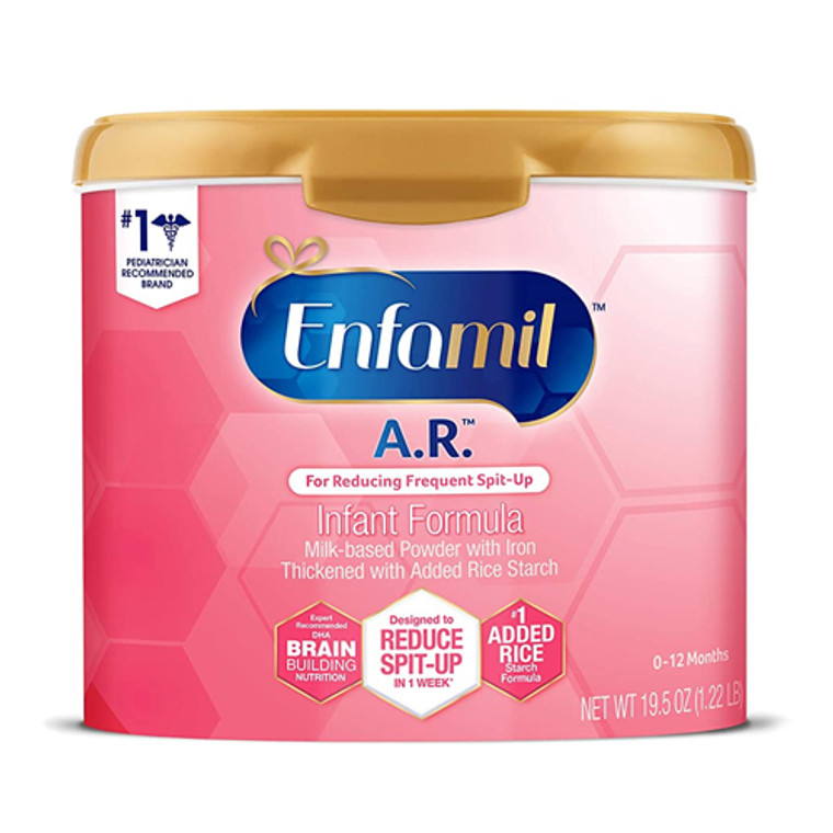 Enfamil A.R. Reducing Spit-up Milk-Based Formula Powder, 21.5 Oz, 4 Pack