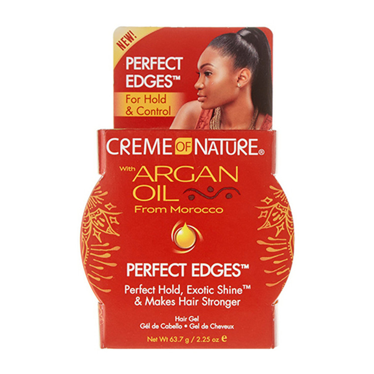 Creme of Nature Perfect Edges Hair Gel, With Argan Oil, 2.25 oz