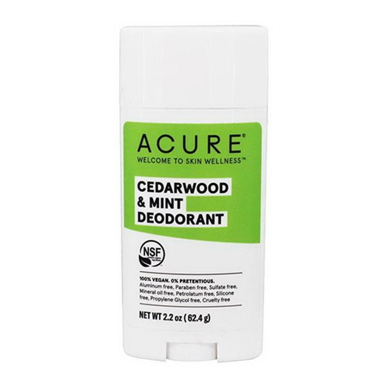 Acure Cedarwood and Mint Deodorant Stick, 2.25 Oz