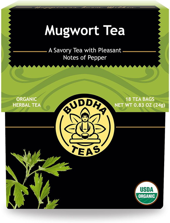 Buddha Teas Organic Herbal Mugwort Tea, 18 Ea