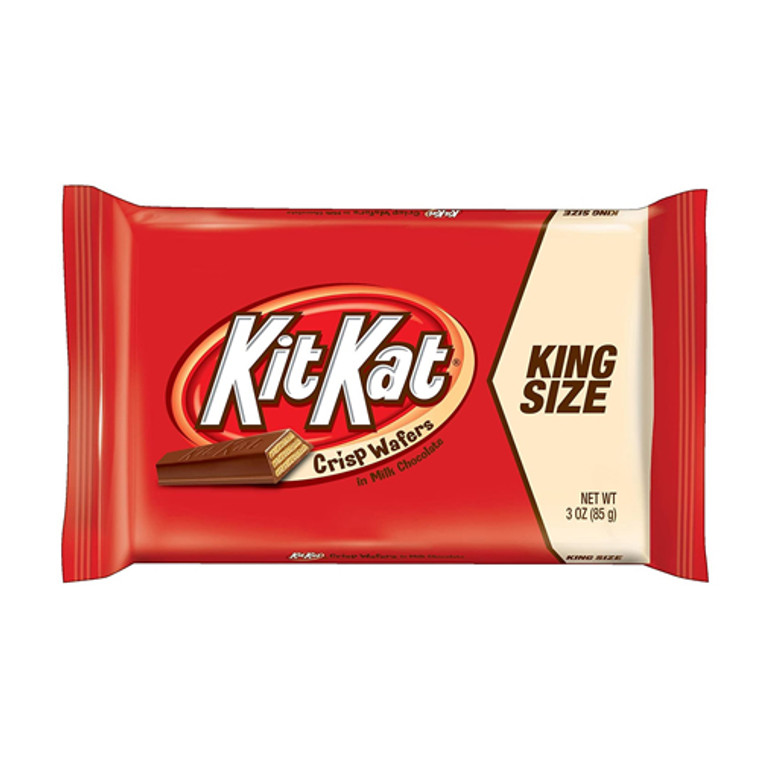 Kit Kat King Size Candy Milk Chocolate Bars - 3 Oz/24 Ea