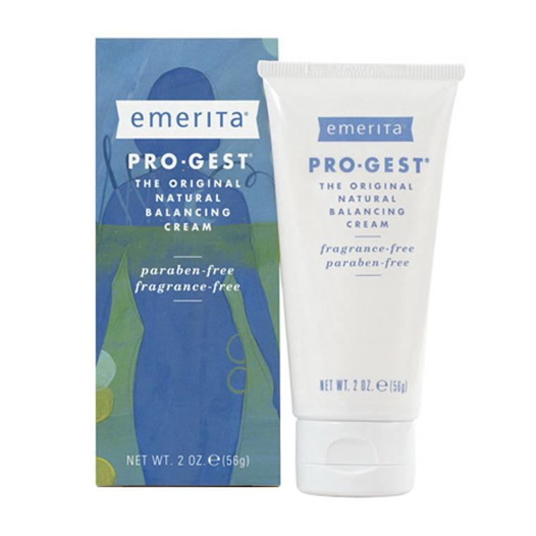 Emerita Pro Gest Natural Progesterone Cream, 2 Oz