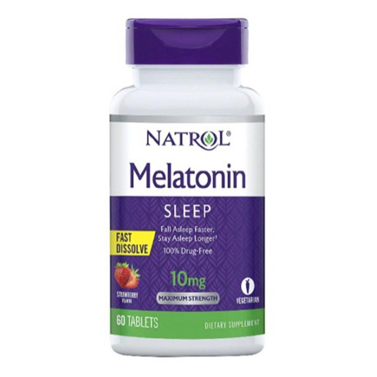 Natrol Melatonin Sleep Fast Dissolve Tablets Citrus Flavor 10mg Tablets, 60 Ea